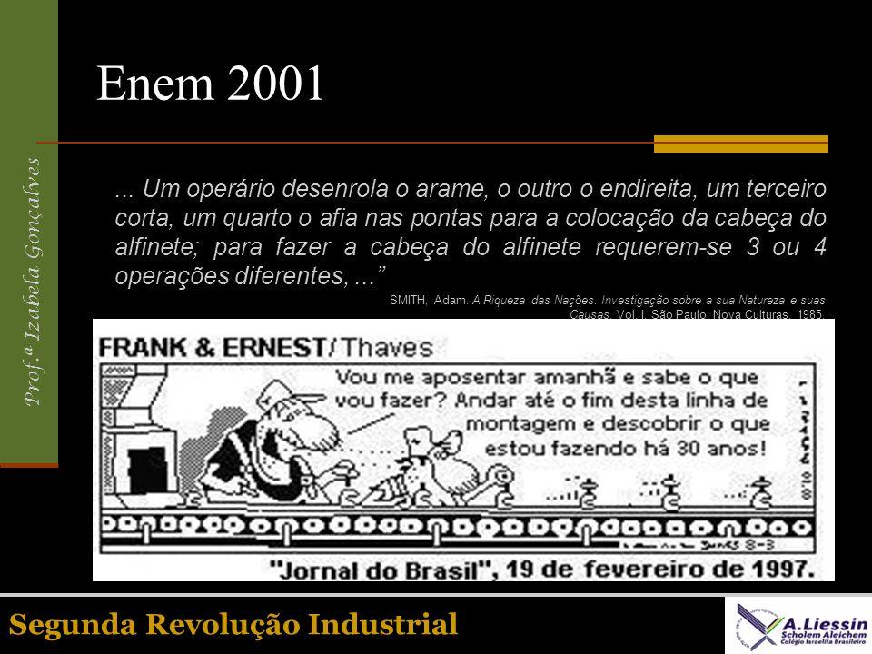 Enem 2001 Segunda Revolução Industrial
