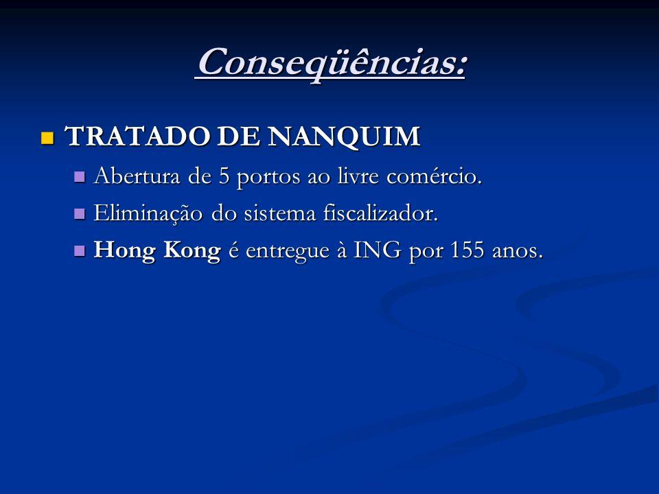 Conseqüências: TRATADO DE NANQUIM