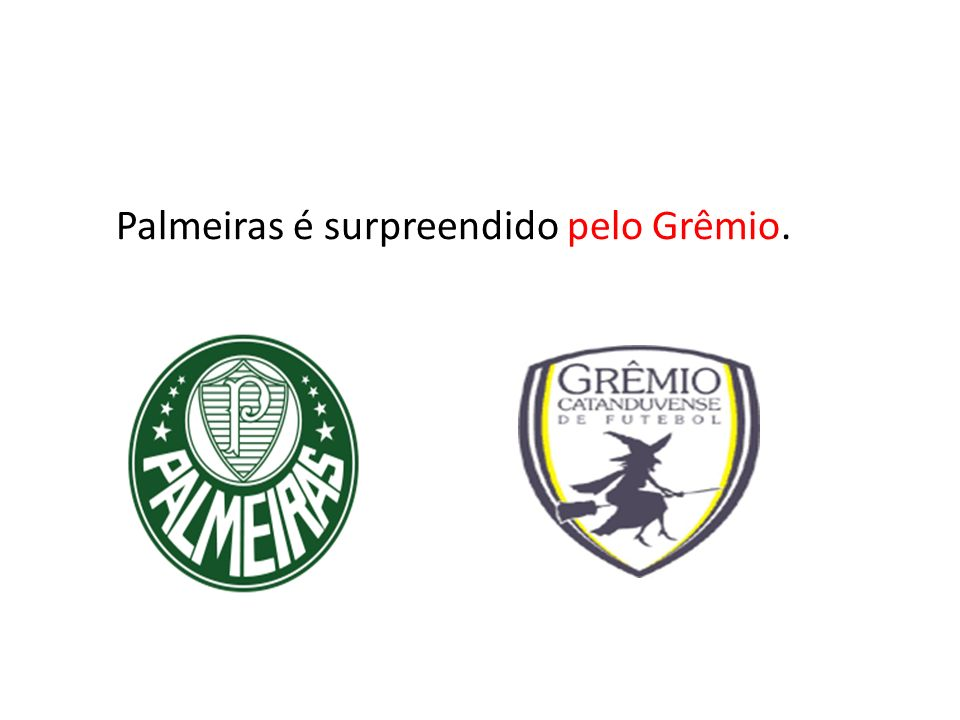 Palmeiras é surpreendido pelo Grêmio.