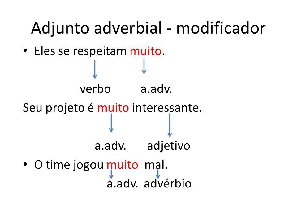 Adjunto adverbial - modificador