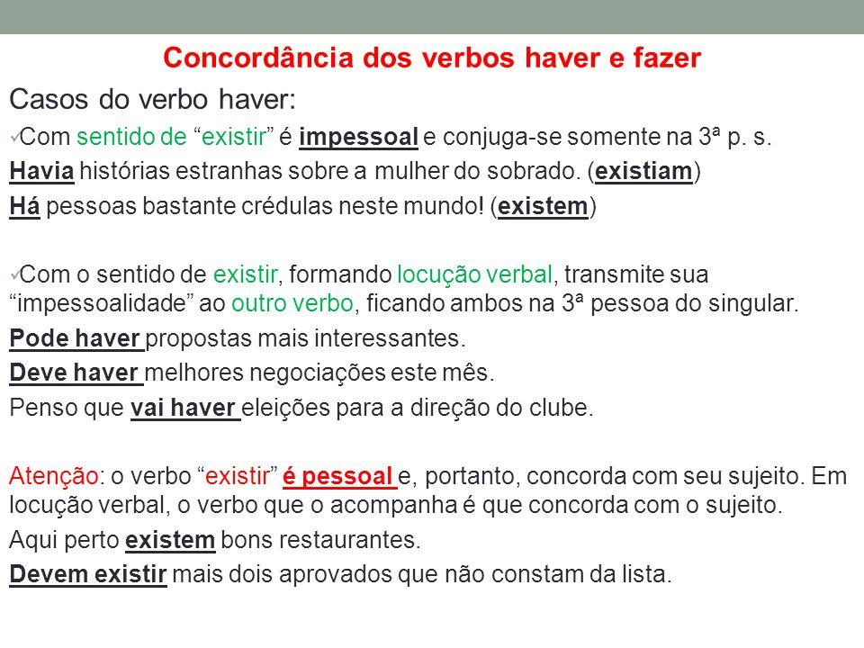 Concordância dos verbos haver e fazer