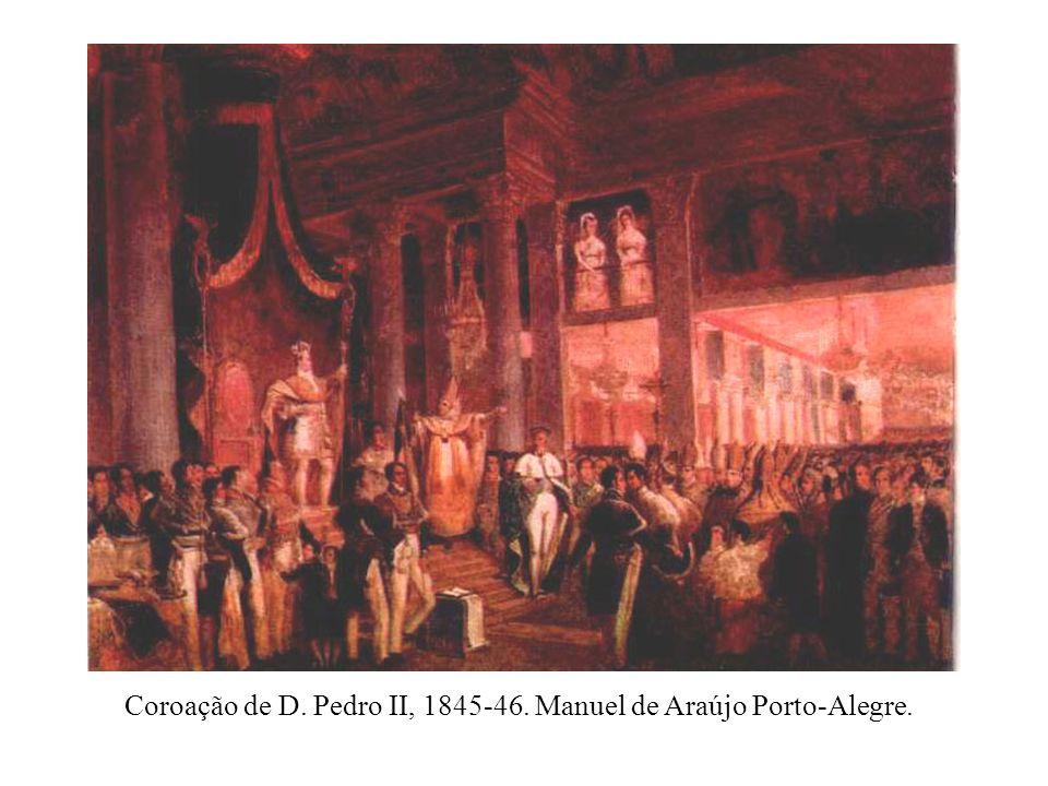 Coroação de D. Pedro II, 1845-46. Manuel de Araújo Porto-Alegre.