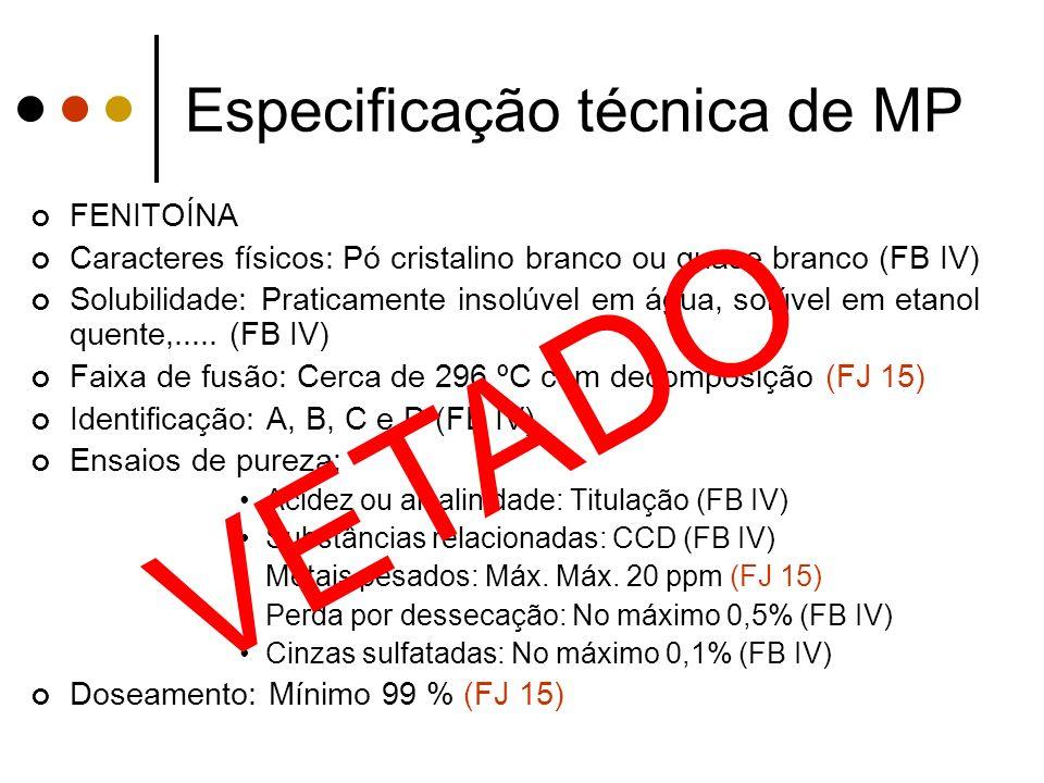 Especificação técnica de MP