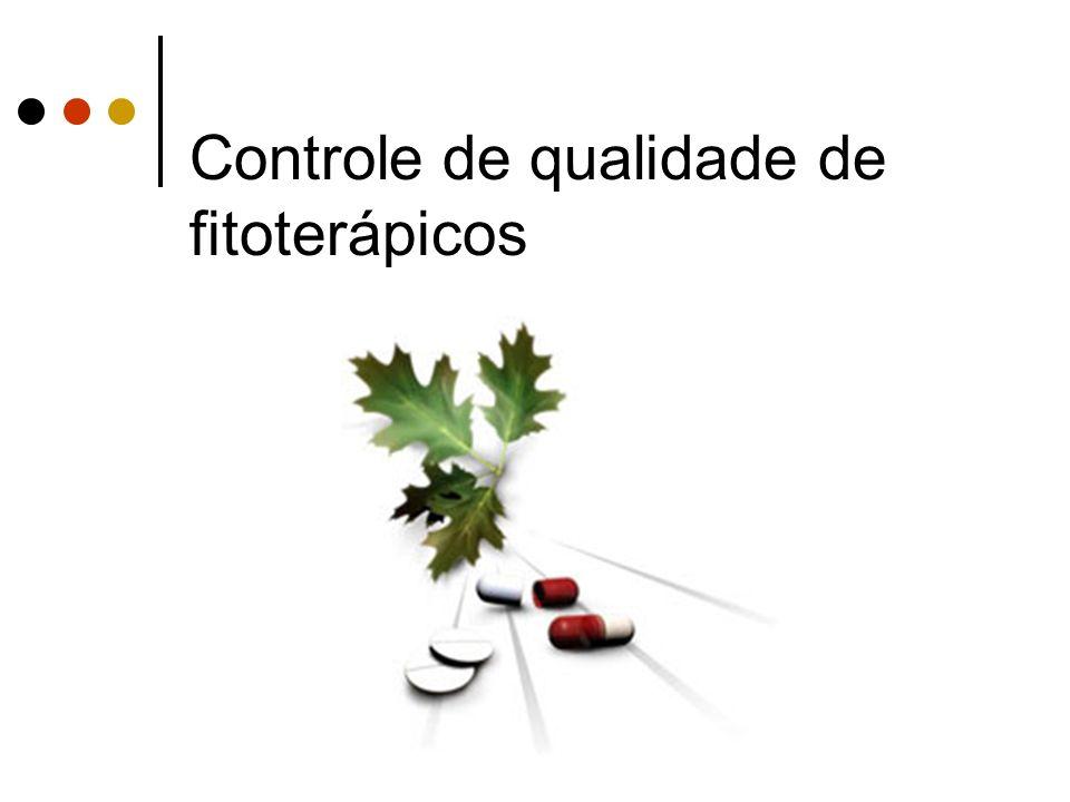 Controle de qualidade de fitoterápicos