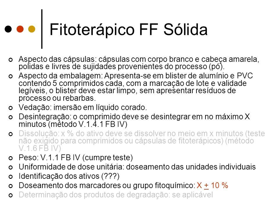 Fitoterápico FF Sólida