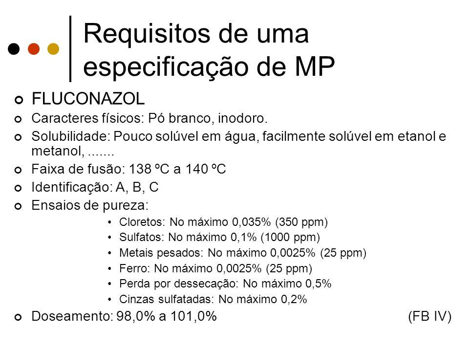 Requisitos de uma especificação de MP