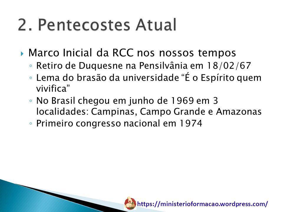 2. Pentecostes Atual Marco Inicial da RCC nos nossos tempos