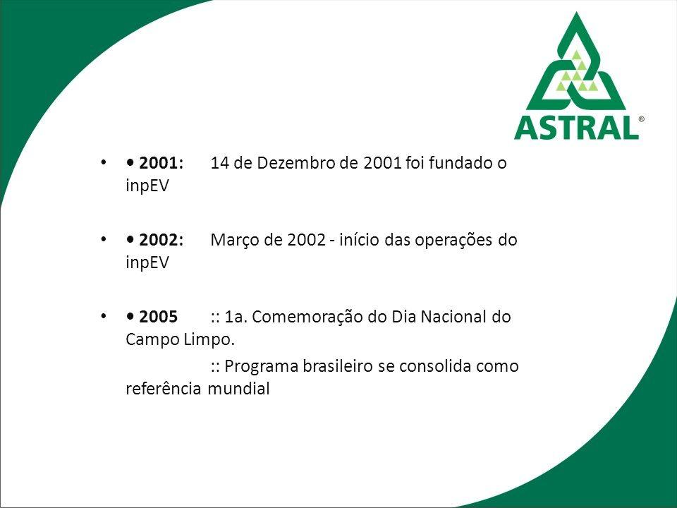 • 2001: 14 de Dezembro de 2001 foi fundado o inpEV