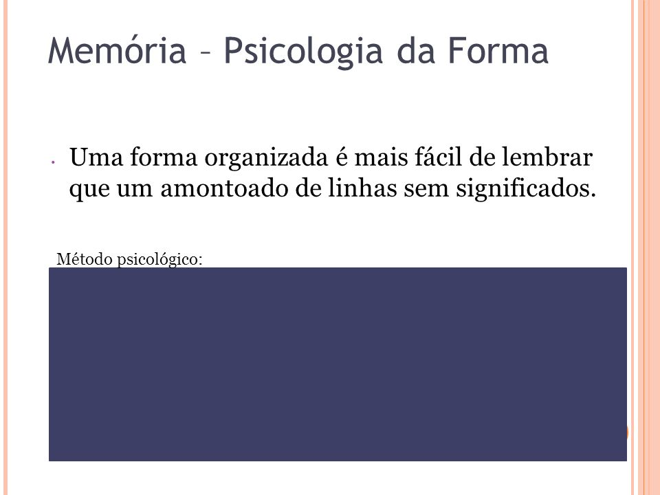 Memória – Psicologia da Forma