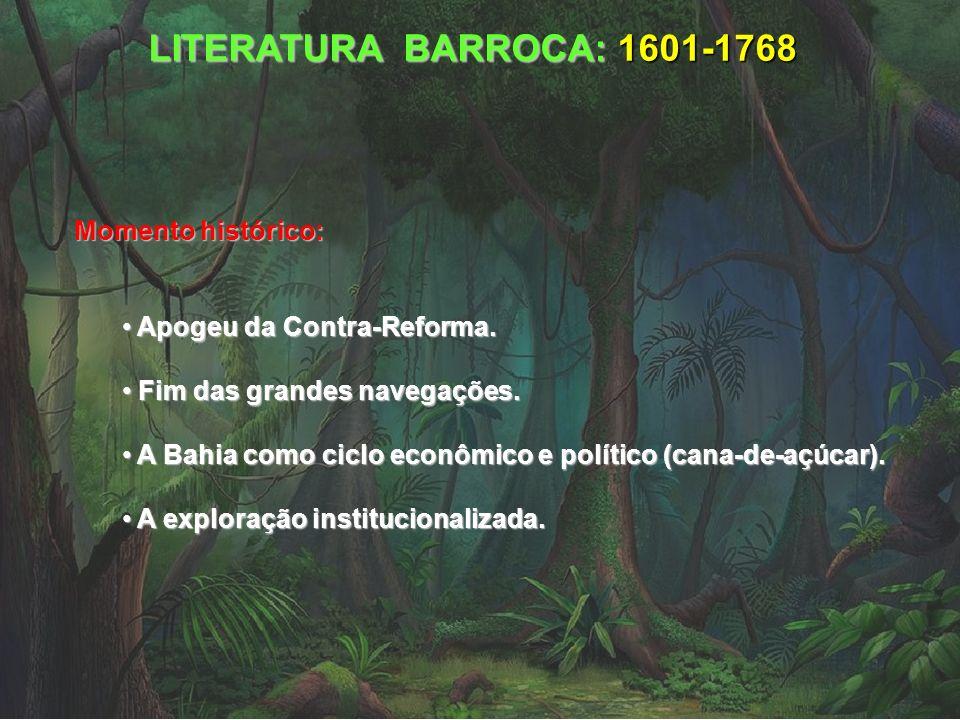 LITERATURA BARROCA: 1601-1768 Momento histórico: