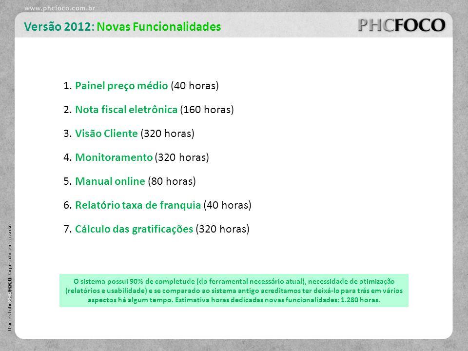 Versão 2012: Novas Funcionalidades