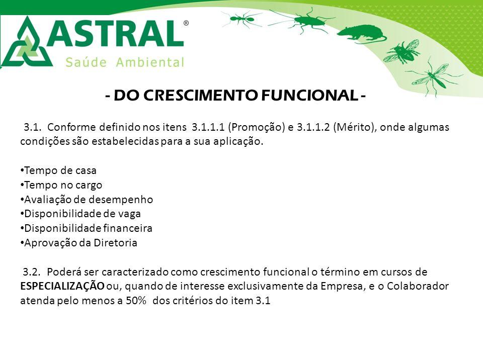 - DO CRESCIMENTO FUNCIONAL -