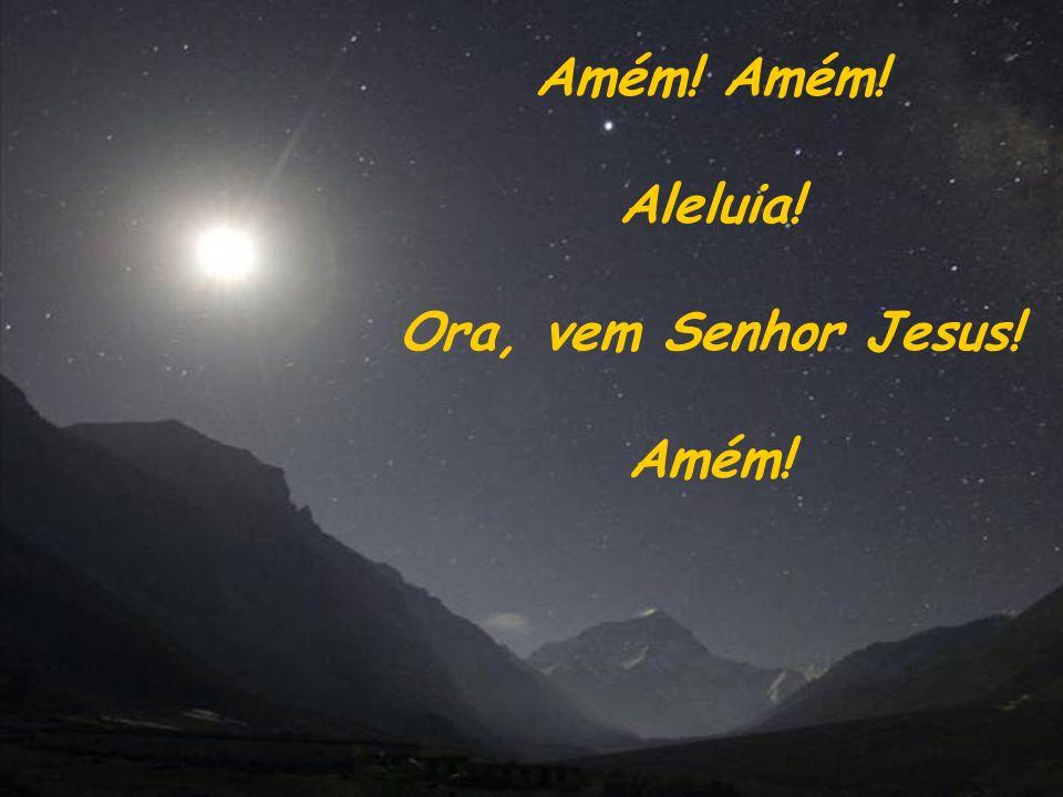 Amém! Amém! Aleluia! Ora, vem Senhor Jesus! Amém!