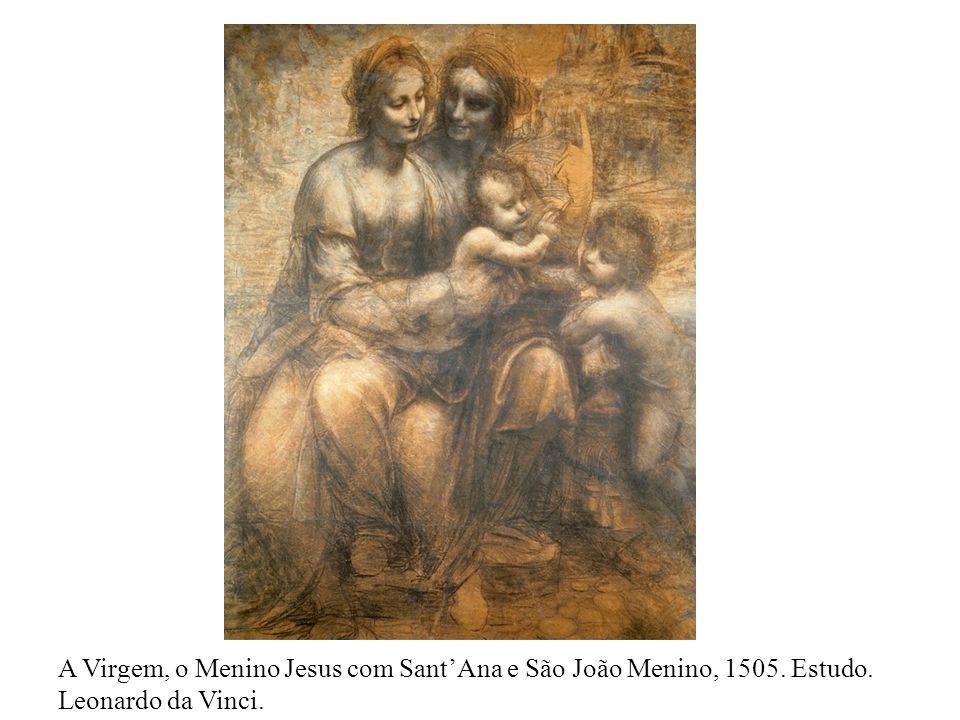A Virgem, o Menino Jesus com Sant'Ana e São João Menino, 1505. Estudo