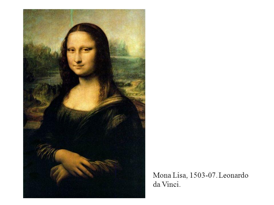 Mona Lisa, 1503-07. Leonardo da Vinci.