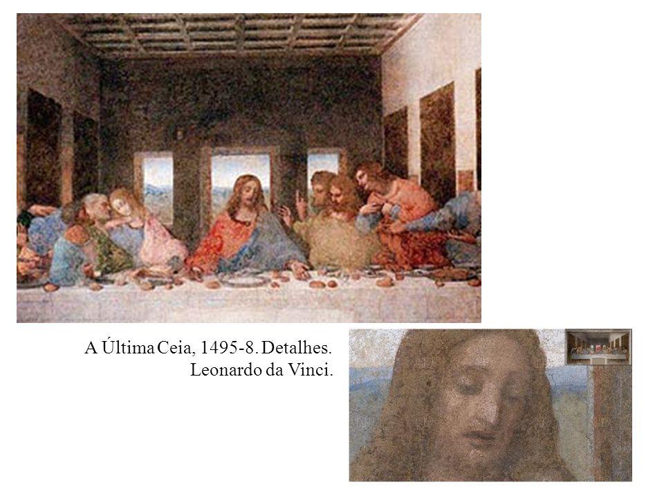 A Última Ceia, 1495-8. Detalhes.