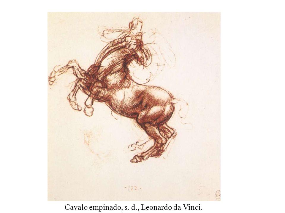 Cavalo empinado, s. d., Leonardo da Vinci.