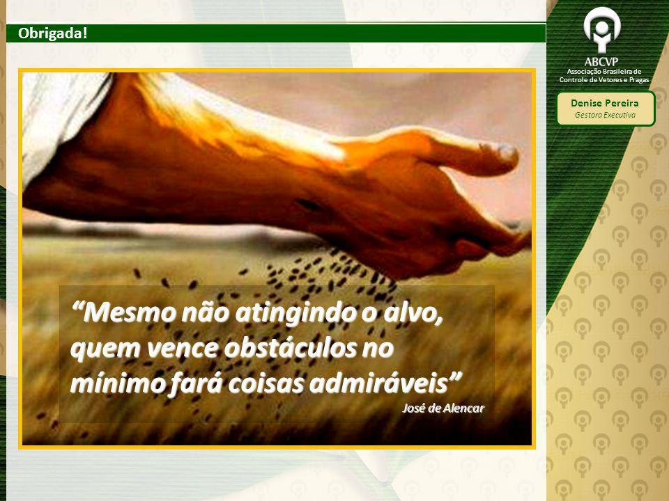 Obrigada! Mesmo não atingindo o alvo, quem vence obstáculos no mínimo fará coisas admiráveis José de Alencar.