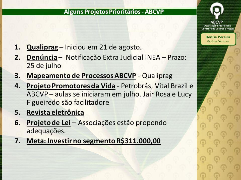 Alguns Projetos Prioritários - ABCVP