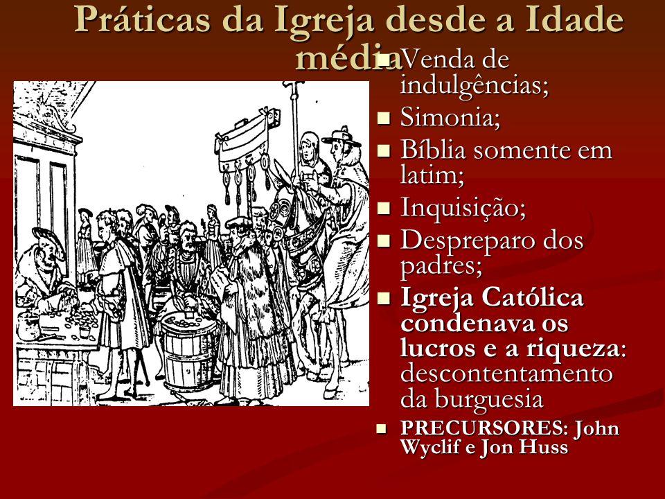 Práticas da Igreja desde a Idade média