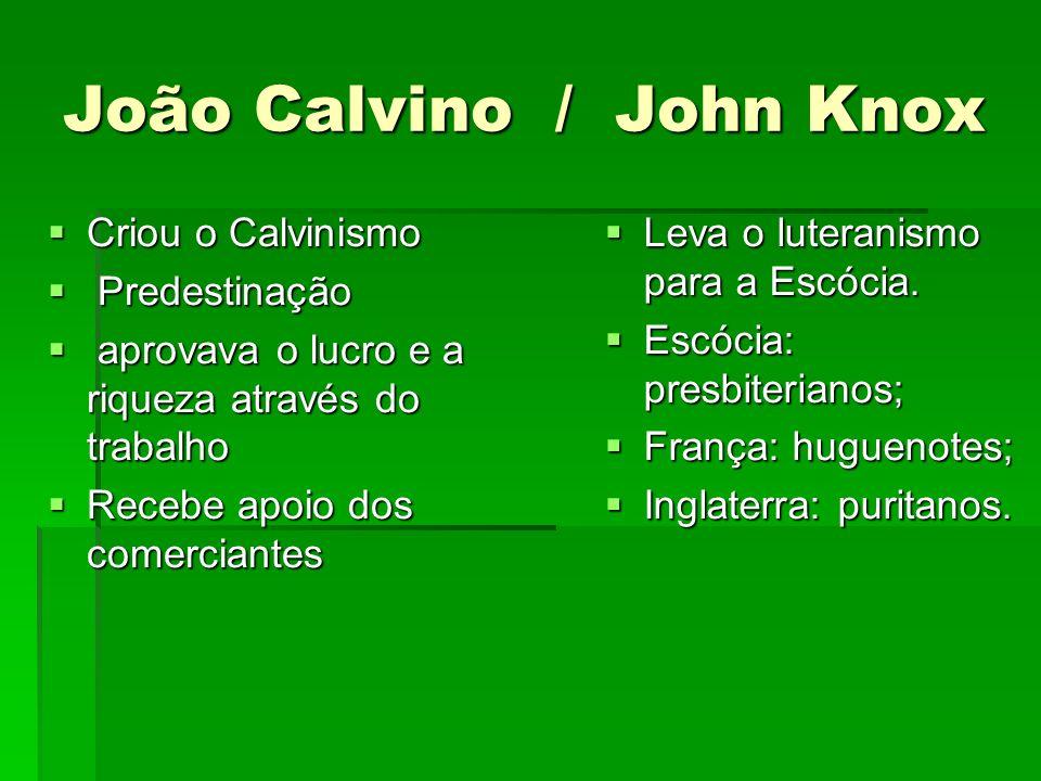 João Calvino / John Knox