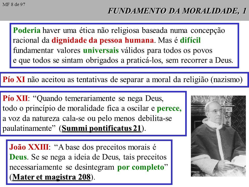 FUNDAMENTO DA MORALIDADE, 1