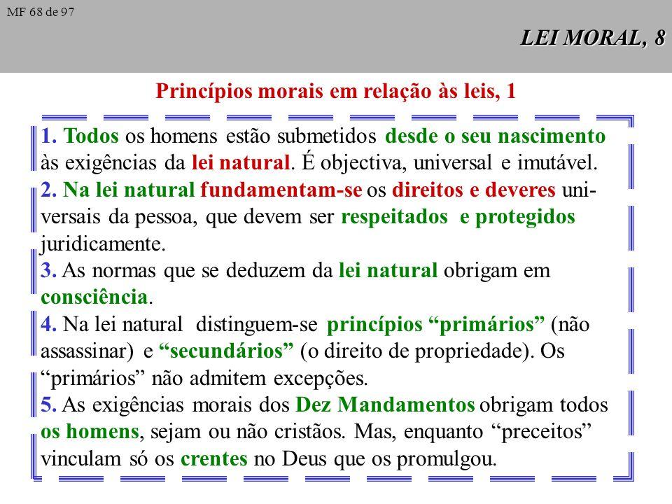Princípios morais em relação às leis, 1