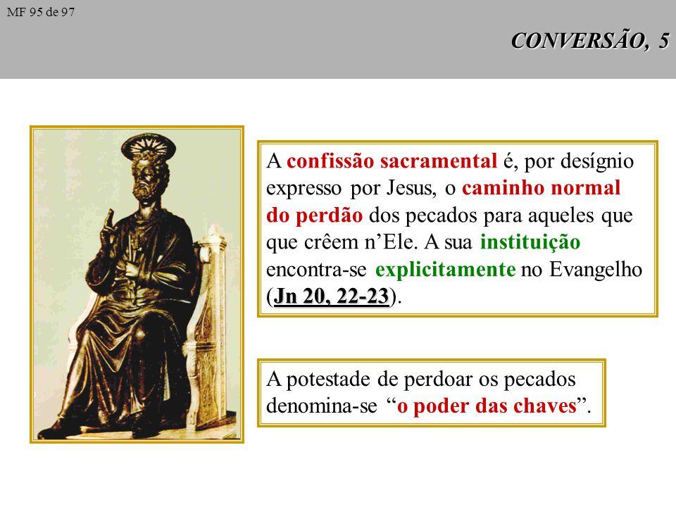A confissão sacramental é, por desígnio