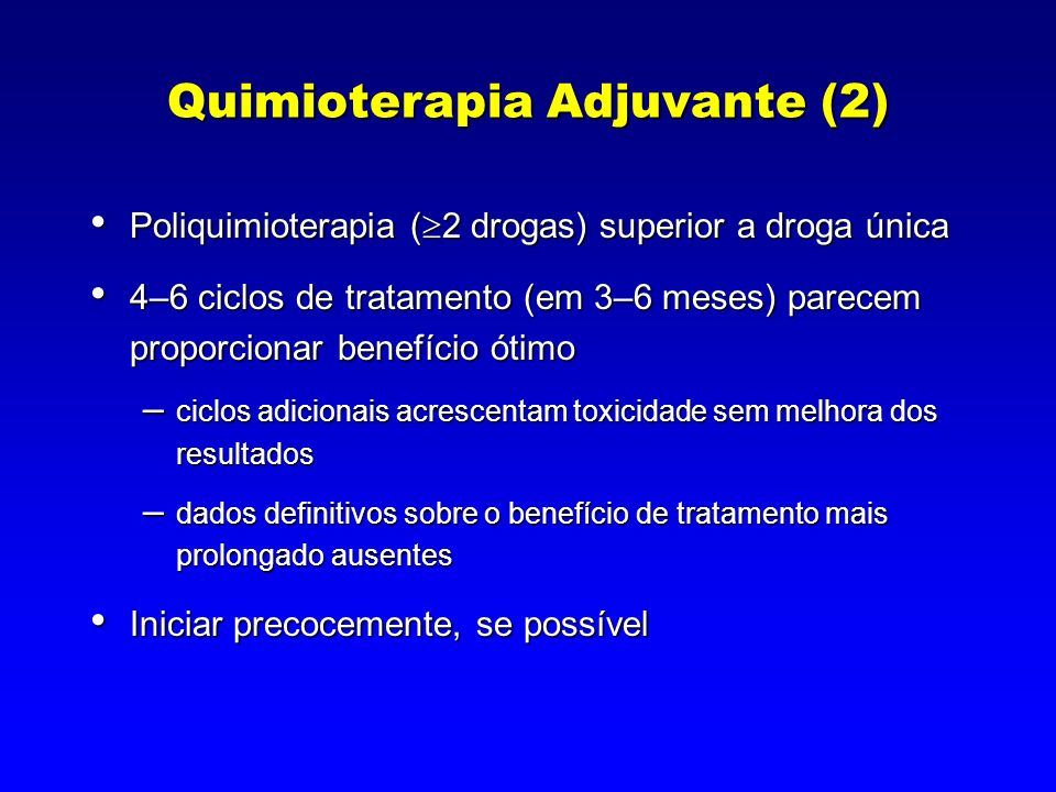 Quimioterapia Adjuvante (2)