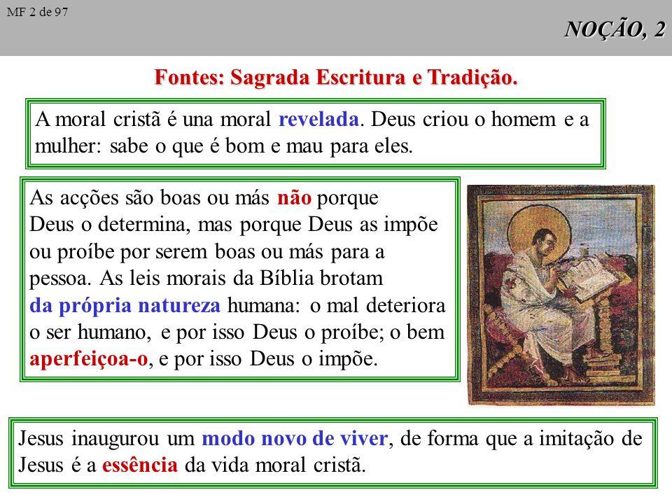 Fontes: Sagrada Escritura e Tradição.