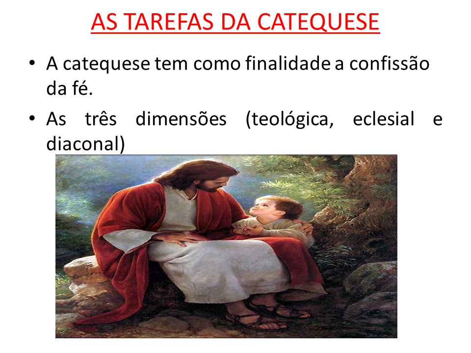 AS TAREFAS DA CATEQUESE