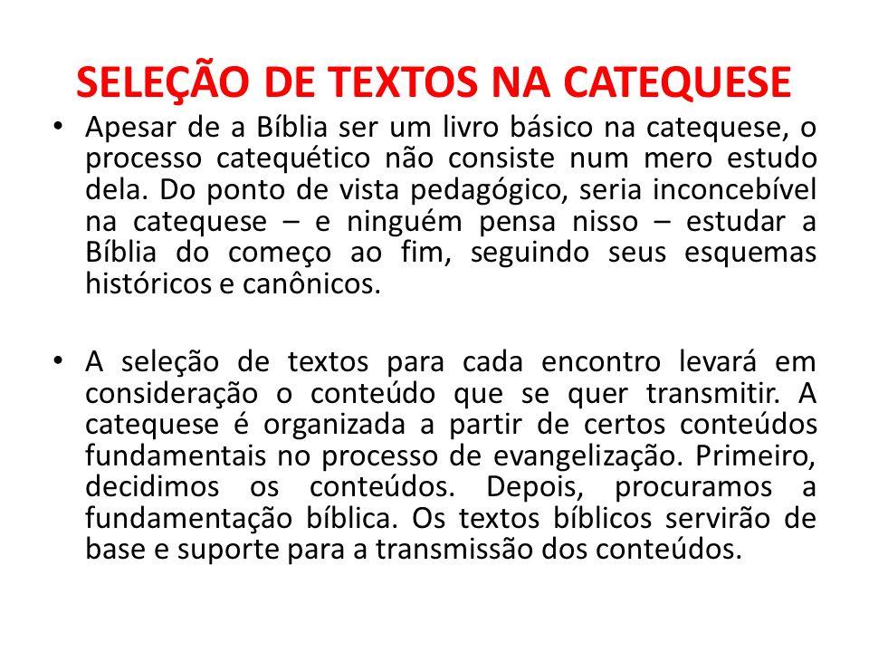 SELEÇÃO DE TEXTOS NA CATEQUESE
