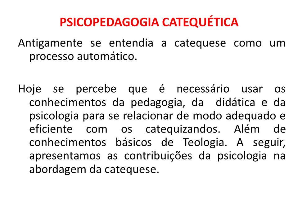 PSICOPEDAGOGIA CATEQUÉTICA