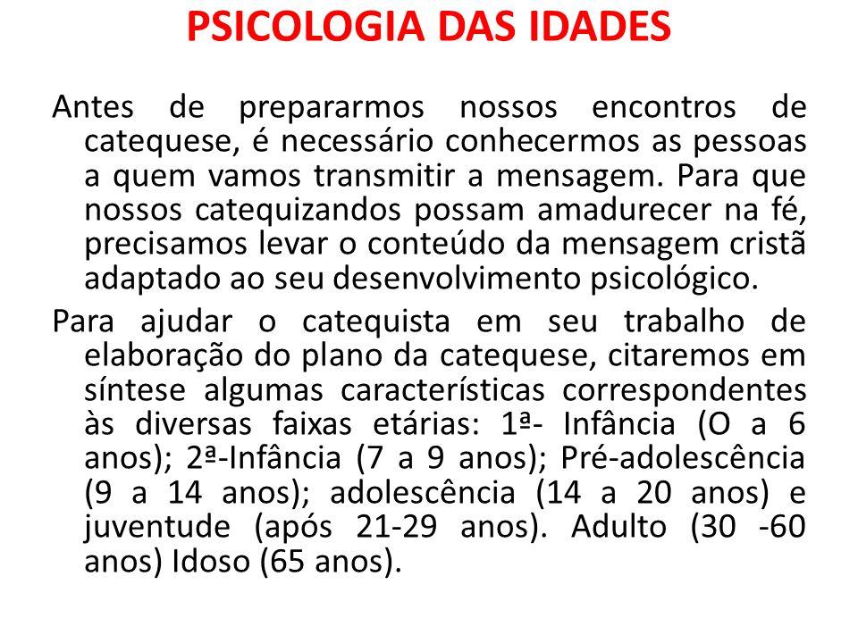 PSICOLOGIA DAS IDADES
