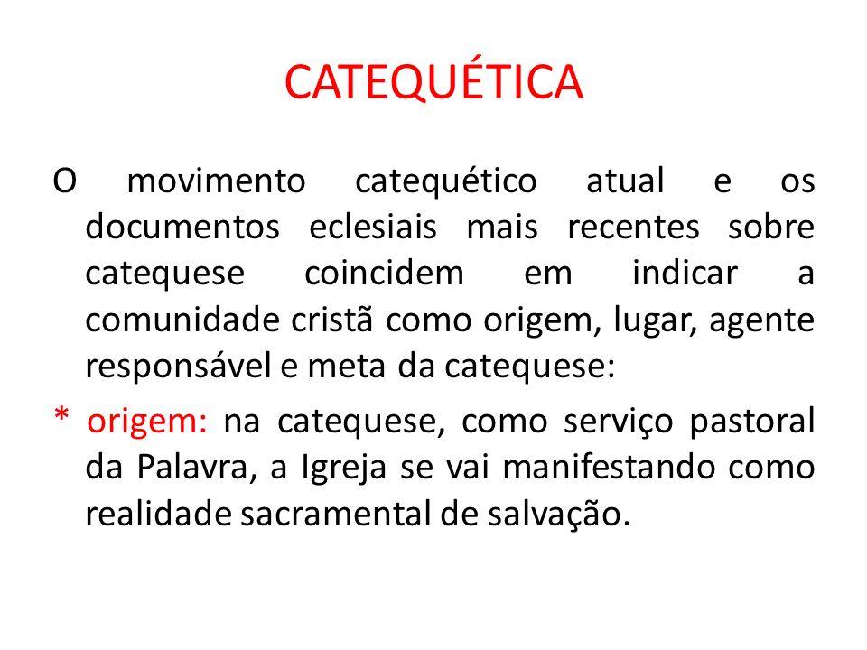 CATEQUÉTICA