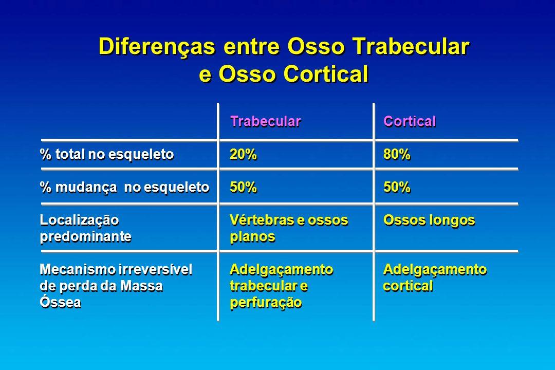 Diferenças entre Osso Trabecular e Osso Cortical
