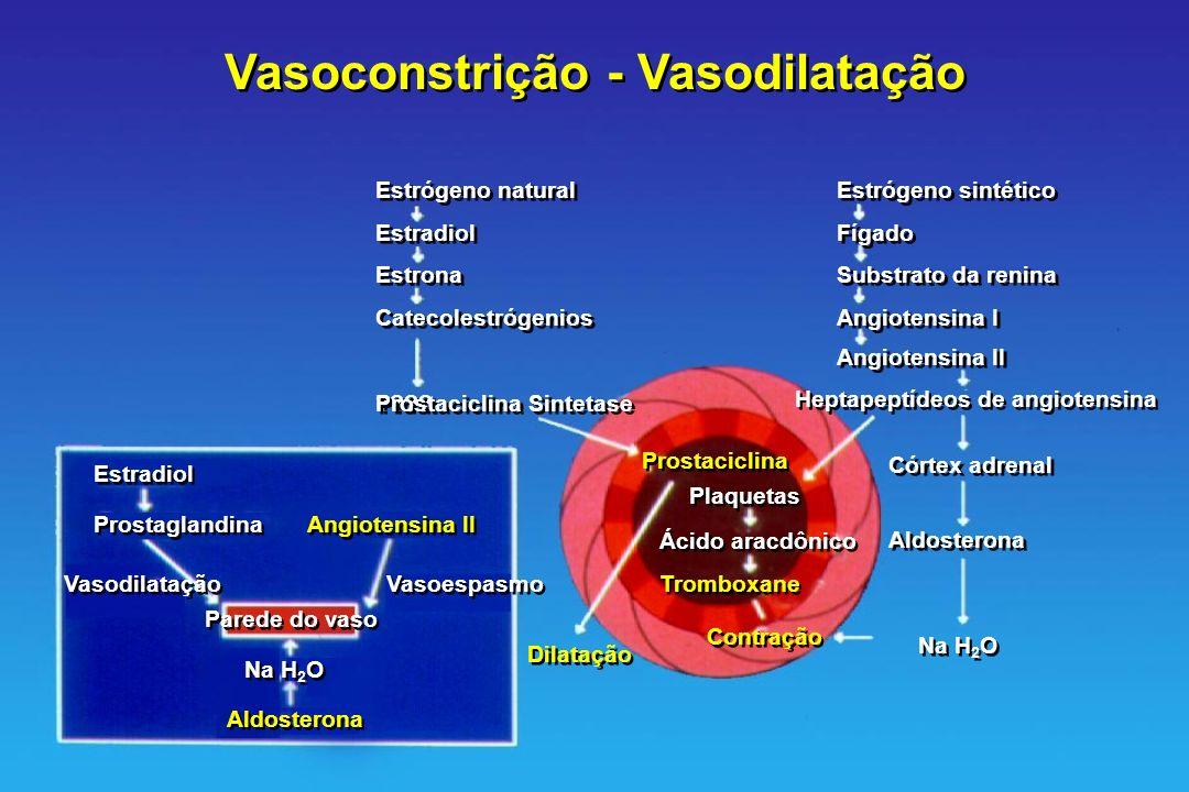 Vasoconstrição - Vasodilatação