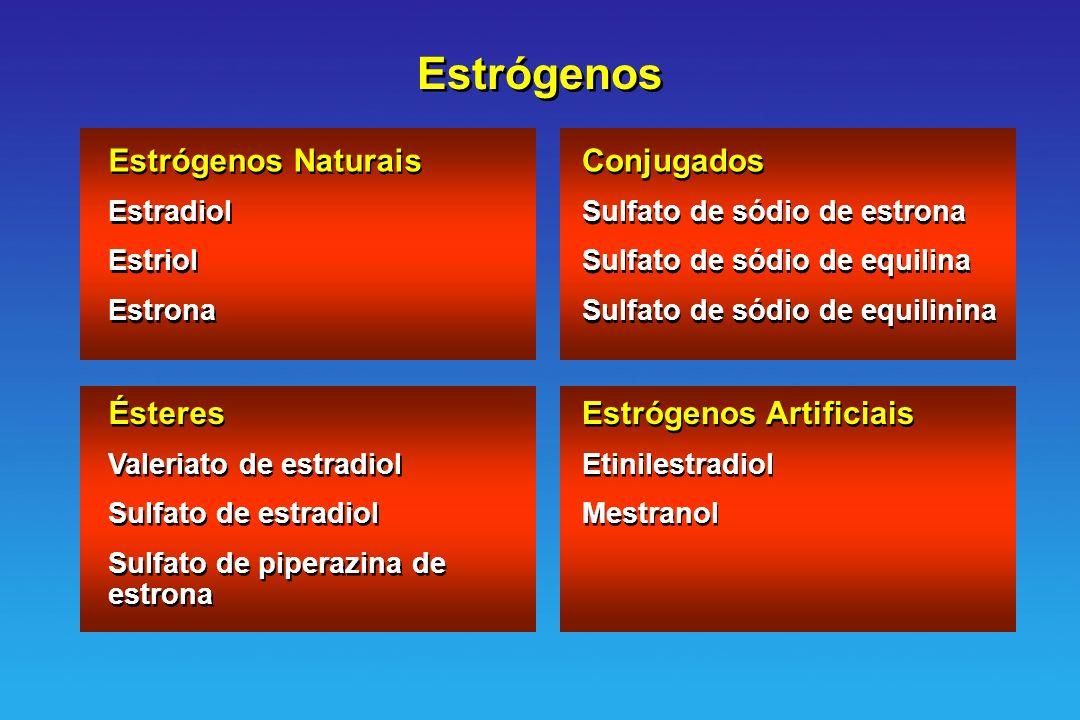 Estrógenos Estrógenos Naturais Conjugados Ésteres