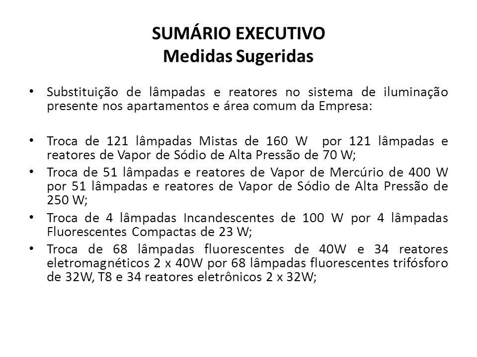 SUMÁRIO EXECUTIVO Medidas Sugeridas