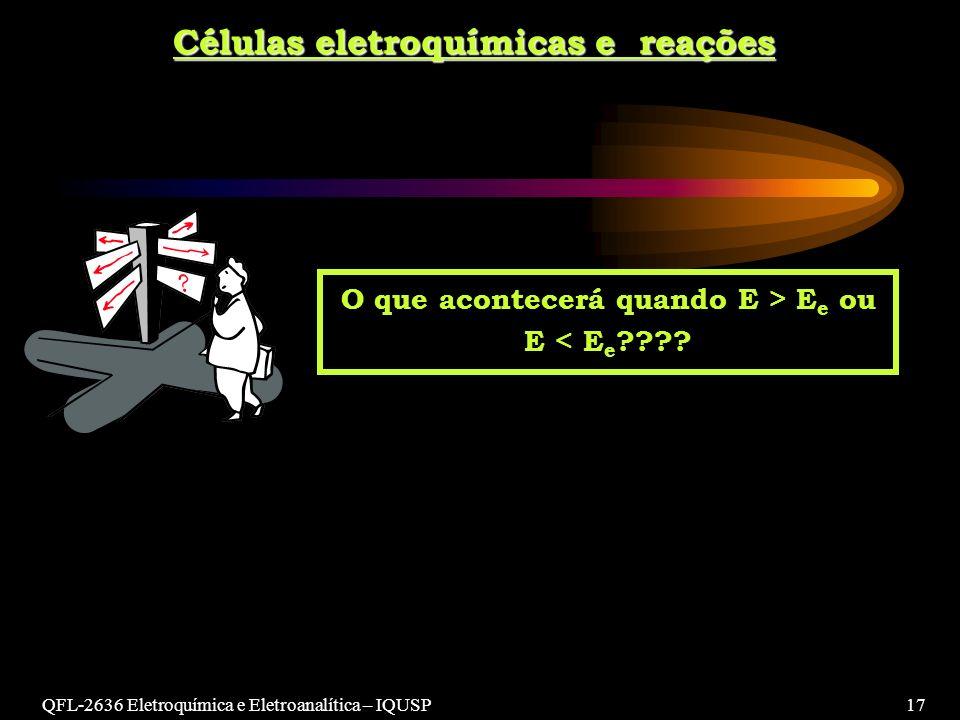 Células eletroquímicas e reações