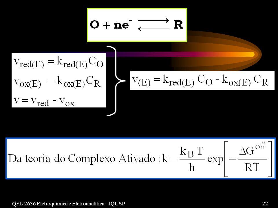QFL-2636 Eletroquímica e Eletroanalítica – IQUSP 22