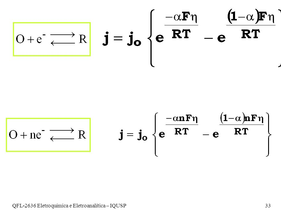 QFL-2636 Eletroquímica e Eletroanalítica – IQUSP 33