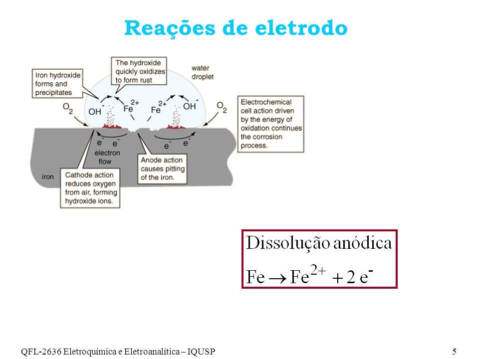 Reações de eletrodo QFL-2636 Eletroquímica e Eletroanalítica – IQUSP 5