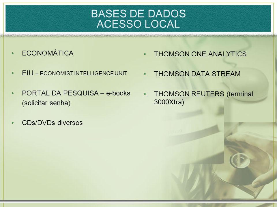 BASES DE DADOS ACESSO LOCAL