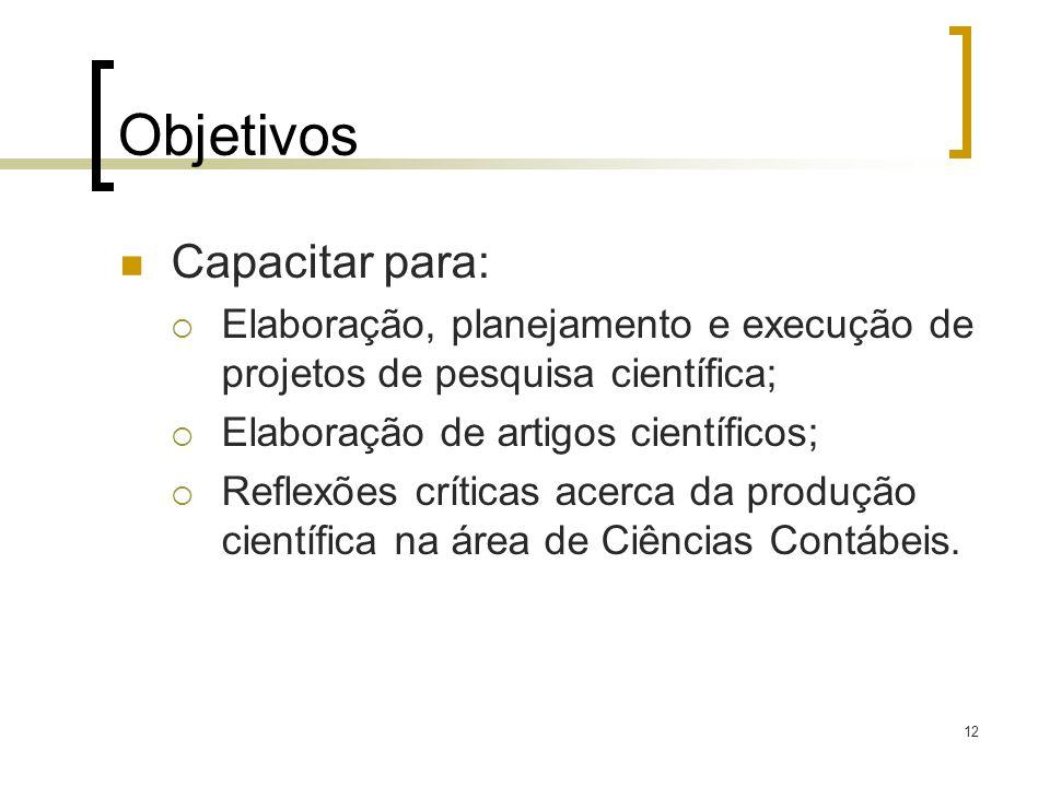 Objetivos Capacitar para: