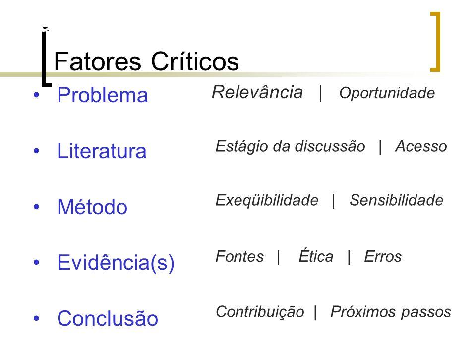 Fatores críticos (qualidade)
