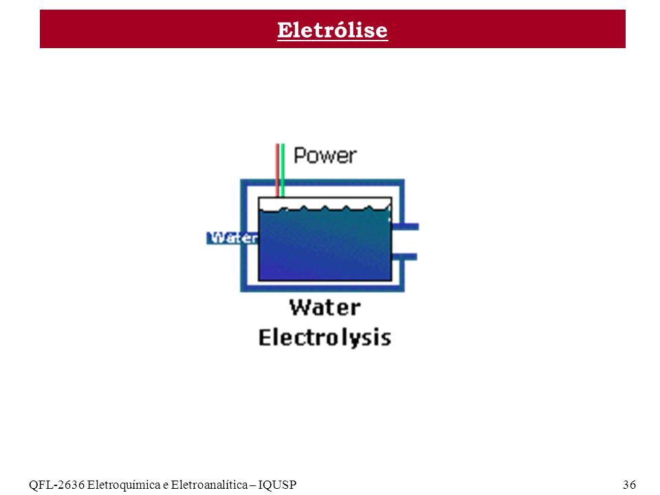 Eletrólise QFL-2636 Eletroquímica e Eletroanalítica – IQUSP 36
