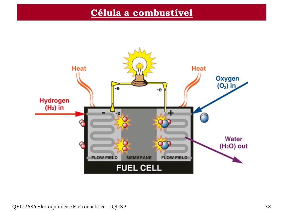 Célula a combustível QFL-2636 Eletroquímica e Eletroanalítica – IQUSP 38