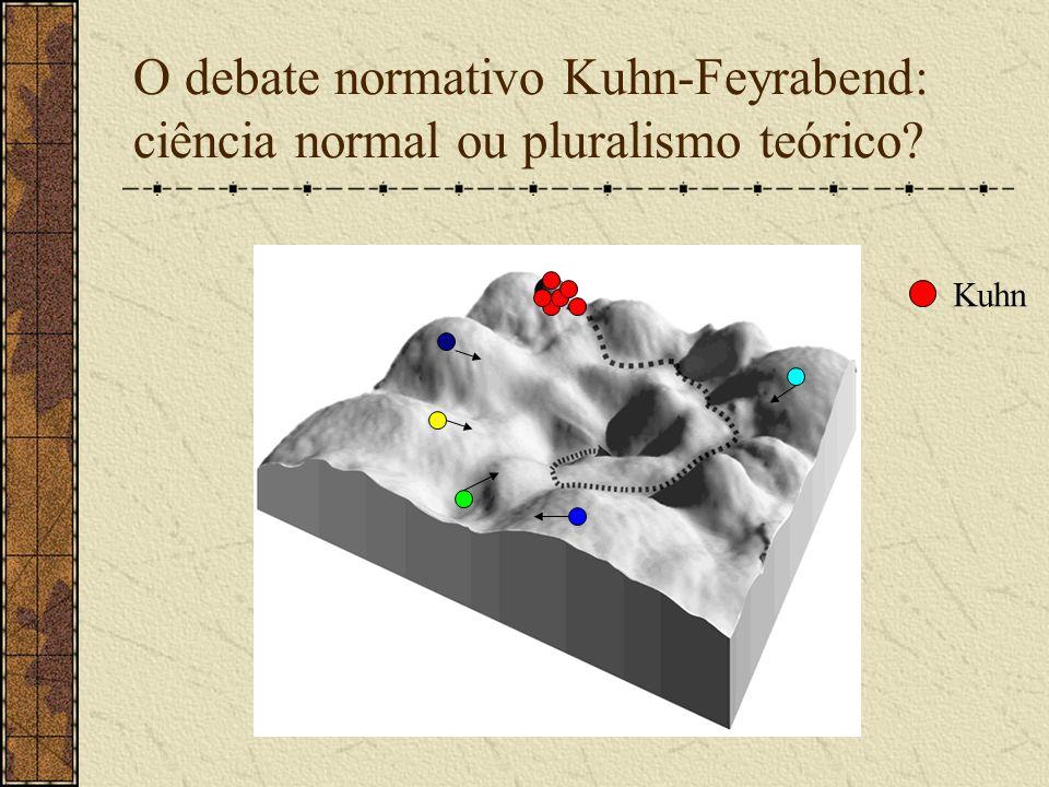O debate normativo Kuhn-Feyrabend: ciência normal ou pluralismo teórico