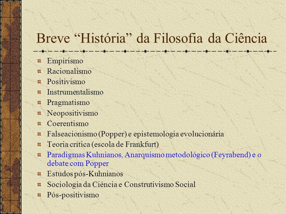 Breve História da Filosofia da Ciência